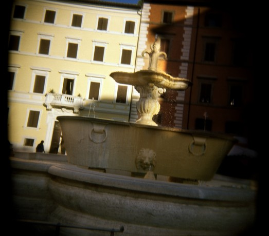 Piazza Farnese Fountain at sunset - © Giulio Napolitano