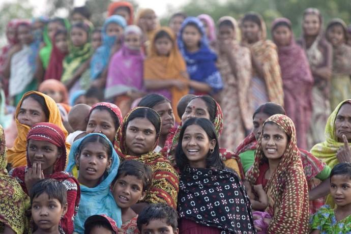 Women attending the
