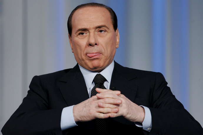 Italian Prime Minister Silvio Berlusconi grimaces before a television broadcast, 2006 - © Giulio Napolitano