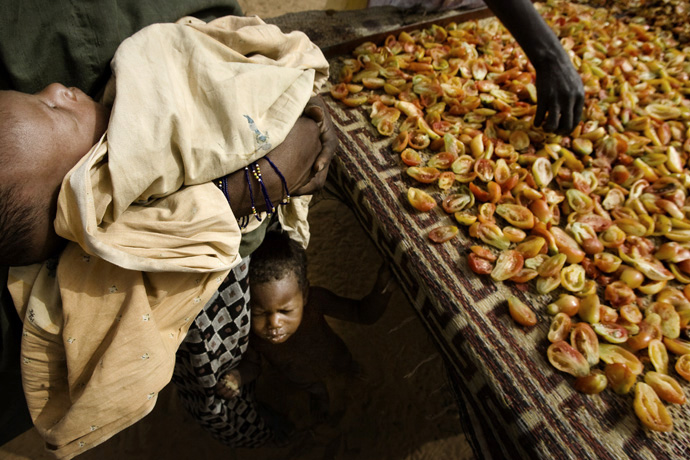 Tomatoes are dried under the sun, Winditan, Niger - © Giulio Napolitano