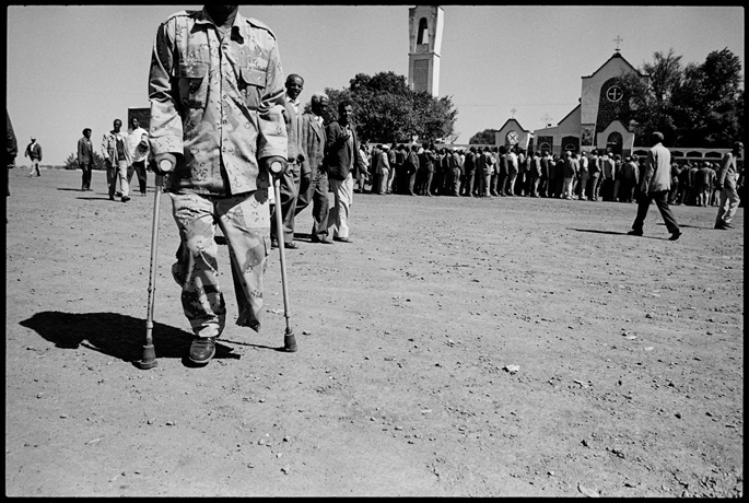 War veteran at the end of a funeral of a comrade, Asmara - © Giulio Napolitano