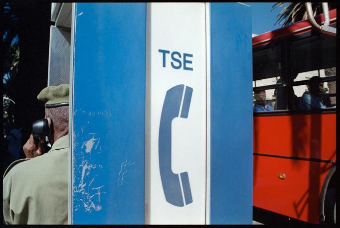 Public telephone, Asmara - © Giulio Napolitano